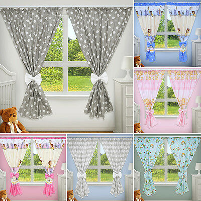 Luxury Decorative Curtains Baby Child Bedroom Nursery Window Pincer Clips • 17.89£