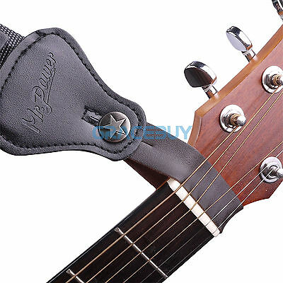 $ CDN8.03 • Buy Guitar Leather Strap Button Hook Strap For Acoustic/Folk/Classical Guitar Brown