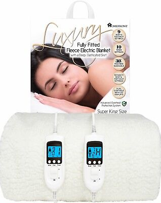 £34.95 • Buy Electric Blanket Dual Control Fitted Mattress Bed Single Double Super King Size