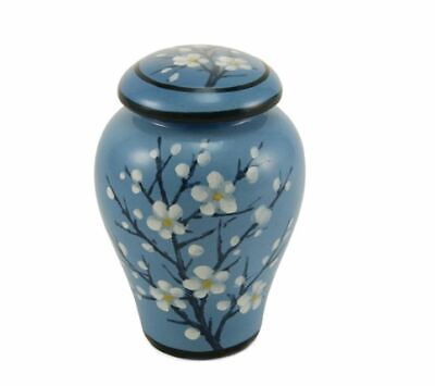 $69.99 • Buy Blue Ceramic Keepsake Funeral Cremation Urn For Ashes, 10 Cubic Inches