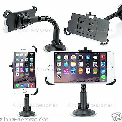 For IPhone 7 Plus Car Holder 360 Degrees Windscreen Suction Mount Cradle Kit • 5.98£