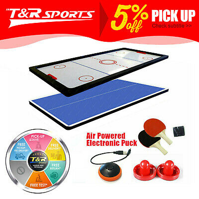 AU209.99 • Buy 8FT Air Hockey/Ping Pong/Table Tennis/Dinning Top Pool Billiard Table Free Post