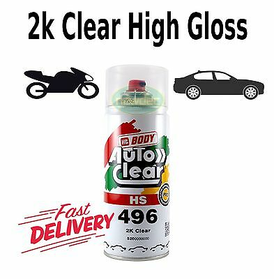 AU26.90 • Buy 2k Gloss Clear Paint Hs 400ml High Spray Touch Up Automotive Top Coat Auto Ford