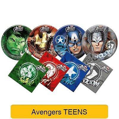 Avengers heroes birthday party-range 2016 tableware and decorations