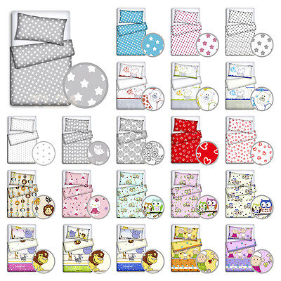 BABY BEDDING SET PILLOWCASE DUVET COVER 2PC TO FIT COT COTBED 120x90 135x100 • 9.35£