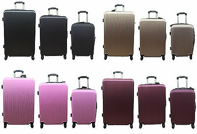 20  24  28  Hard Shell Cabin Suitcase 4 Wheel Luggage Spinner Lightweight • 29.95£