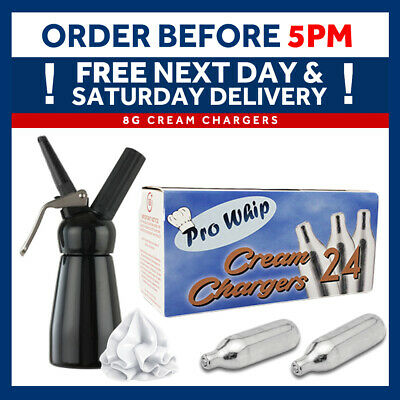 Pro Whip 8g Whipped Cream Chargers Whipping Canisters Whipping Dispenser MOSA • 15.95£