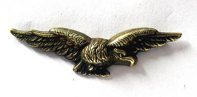 £14.99 • Buy RAF Officer Cap Badge WW2 Eagle WWII Hat Royal Air Force Albatross Aged Brass