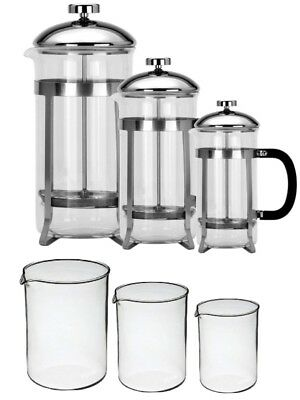 Gifted Boxed Toughened Glass Cafetiere 8 Cup 6 Cup 3 Cup Coffee Plunger • 7.89£