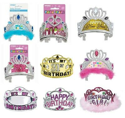 TIARA - Birthday Party Princess - Dress Up - Baby Shower Wedding Glitz • 2.89£