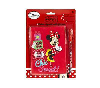 Minnie Mouse Deluxe Agenda With Gel Pen Christmas Gift Notebook • 3.49£
