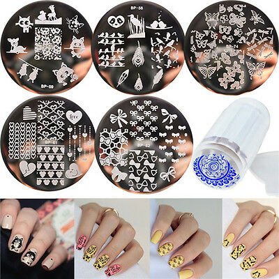 $3.51 • Buy 7Pcs/set BORN PRETTY Nail Art Stamping Image Plates & Clear Stamper