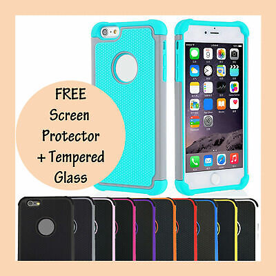 AU7.75 • Buy Shockproof Tough Heavy Duty Tradie Armor Case Cover For Apple IPhone 6s 6 6 Plus