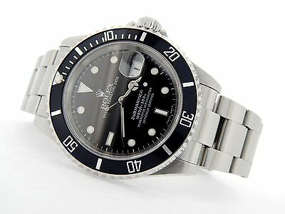 $ CDN10928.23 • Buy Rolex Submariner Mens Stainless Steel Watch Date Sub Black Dial Bezel SEL 16610