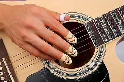 AU9.80 • Buy 1 Thumb+3 Finger Nail Acoustic Electric Classical Guitar Picks14mmMedium Only