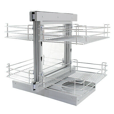 £209.99 • Buy Magic Corner Kitchen Baskets Pull Out Right Hand Slide Out Wire Storage 80-90cm