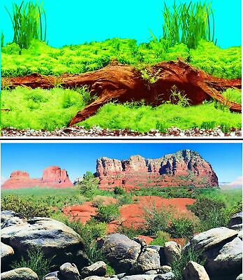 AU23.48 • Buy Aquarium Fish Tank Background Double Sided 24  / 60cm High - 2 To 10 FT Lengths
