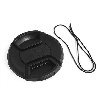 AU2.19 • Buy 49mm Camera Snap-on Front Lens Cap Cover For Canon Nikon Fuji Sony With String