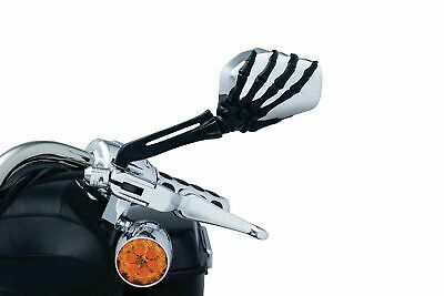 $103.49 • Buy Kuryakyn Skeleton Black Hand Chrome Mirrors Set Motorcycle Harley Honda Indian