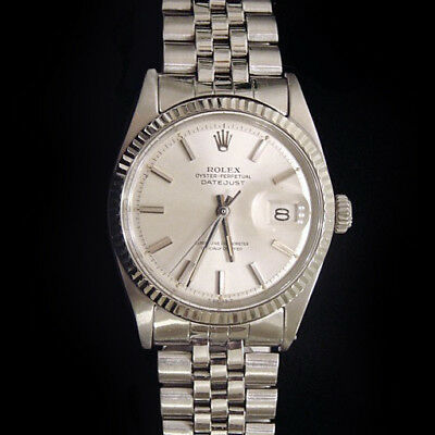 $ CDN5574.29 • Buy Rolex Datejust Stainless Steel 18K White Gold Watch Silver Jubilee Bracelet 1601