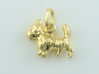 £34.99 • Buy 9ct Yellow Gold Yorkshire Terrier Dog Charm / Pendant