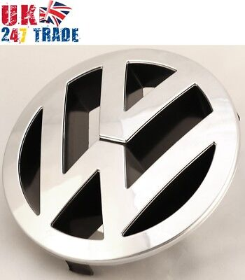 VW TOUAREG FRONT 150mm GRILLE EMBLEM CHROME BADGE 7L6853601A • 21.99£