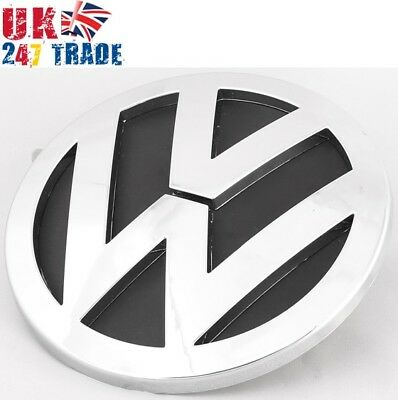 VW TOUAREG REAR TAILGATE BOOT LID 140mm GRILLE EMBLEM CHROME BADGE 7L6853630A • 16.99£
