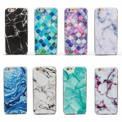 AU9.95 • Buy Marble Pattern Thin Gel Silicone Cover Case For Apple IPhone 5 5S SE 6 6S Plus 7