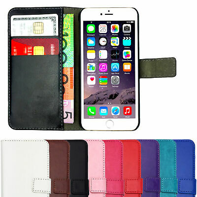 AU6.75 • Buy Leather Flip Case Wallet Magnetic Stand Cover For Apple IPhone 7 Plus 8 10 X