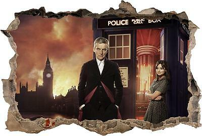 £5.93 • Buy Doctor Who Tardis Smashed Wall Decal Graphic Wall Sticker Decor Art Mural H786