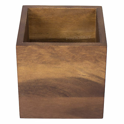 AU26.14 • Buy Square Wooden Kitchen Utensil Storage Jar Cutlery Holder Caddy Tidy Dining Table
