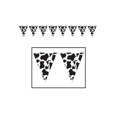 £4.49 • Buy Wild West Western Cowboy Party Plastic Cow Print Pennant Banner Decoration