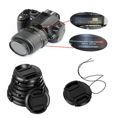 AU2.19 • Buy New 49/52/55/58mm Clip On Front Lens Cap Cover Center Pinch For Canon Nikon Sony