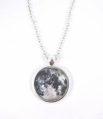 £4.99 • Buy Planet Full Moon Design Silver Plated Necklace New In Gift Bag Astronomy Space