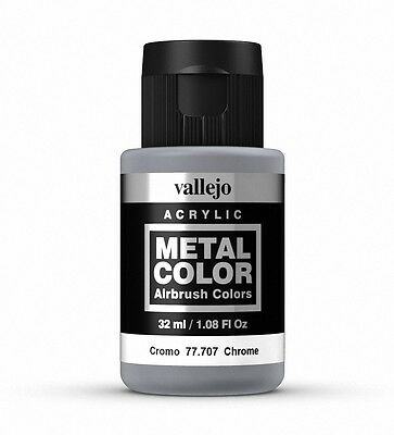Vallejo Metal Color Chrome 77.707 Acrylic Water-Based Paint 32ml   • 6.99£