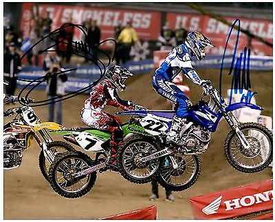 $84.99 • Buy CHAD REED & JAMES  BUBBA  STEWART Dual Signed SUPERCROSS Motocross 8x10 Photo I