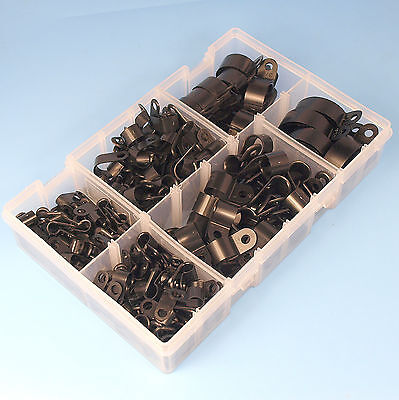 £12.39 • Buy High Quality Assorted Box Of Black Nylon Plastic P Clips - 200 Pieces