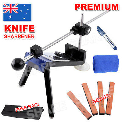 AU35.95 • Buy Professional Chef Knife Sharpener Kitchen Sharpening System Fix Angle 4 Stones