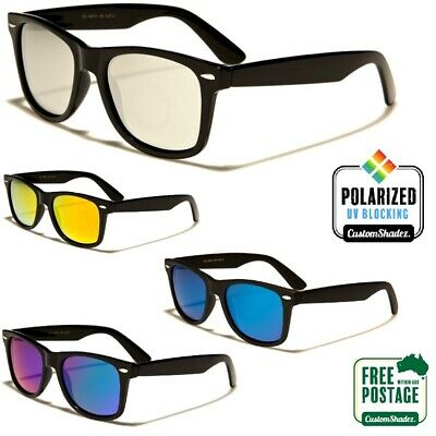 AU14.95 • Buy Polarised Retro Sunglasses - Mens / Womens - Polarized Mirror Lens - Free Post