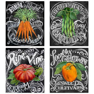 $59.96 • Buy Vegetables Farm Chalkboard Style Wall Decal Set Vintage Style Home Decor Bundle