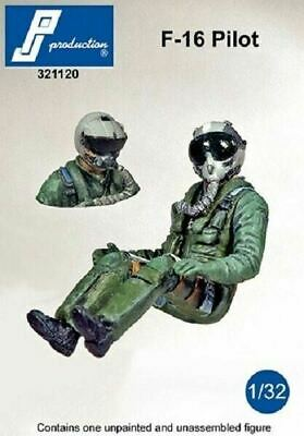 PJ Production 321120 1/32 F-16 Pilot Pilot Seated In Aircraft Resin Figure • 13.95£