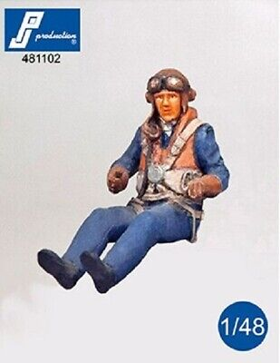 PJ Production 481102 1/48 RAF Pilot WWII Seated In Aircraft Resin Figure • 6.75£