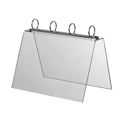 A4 Landscape Ring Binder Tent Display Menu Holder Flip Display Ring Binder • 16.99£