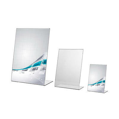 Acrylic Menu Holder Leaflet Perspex Poster Display Stands A4 A5 A6 A7 A8 A9 • 6.95£