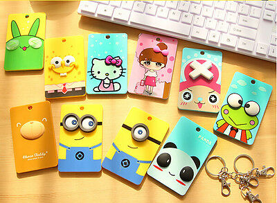 £2.99 • Buy 2D ID Train Bus Card Pass Holder With Keyring Cartoon Kids Party Bag Fun Novelty