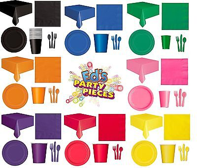 £2.65 • Buy PARTY TABLEWARE - Plates/Cups/Napkins/Tablecovers/Bags/Balloons - 8 Colours