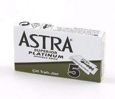 Astra Green Superior Platinum | Double Edge Razor Blades |  Premium Safety DE • 8.69£