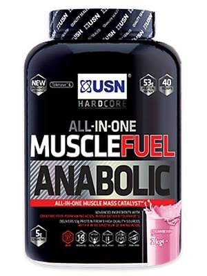 £29.95 • Buy USN Muscle Fuel Anabolic 2kg - All In 1 Muscle Mass Gainer