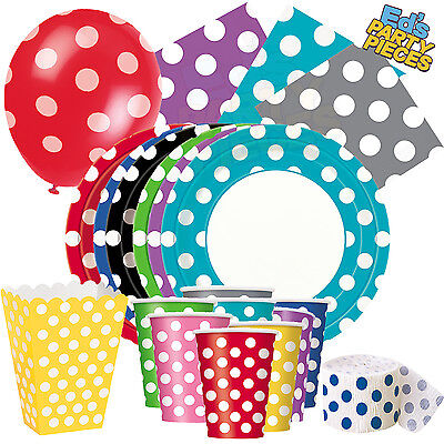 £1.95 • Buy POLKA DOT Colours PARTY TABLEWARE  Birthday/Events/Catering/Wedding/Occasion