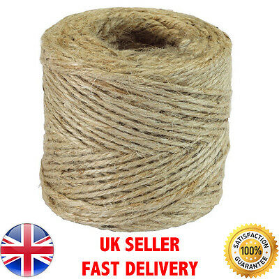 10m-500m Metre Natural Brown Shabby Style Rustic String Twine Shank Craft Jute!! • 4.89£